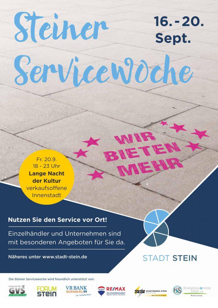 Service Woche Stein Plakat Optik Schumann